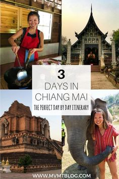 Spend the perfect 3 days in Chiang Mai, Thailand with our complete itinerary, including a visit to an elephant sanctuary, a Thai cooking class, the highest mountain in Thailand, and numerous food and drink recommendations.