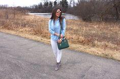 Jean shirt outfit - Alejandra Avila