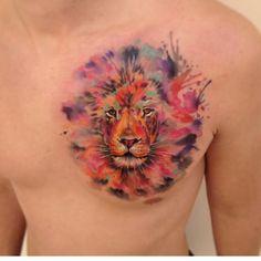 #watercolor #watercolorstattoo #lion