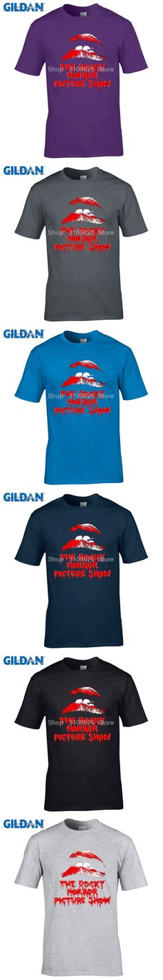 GILDAN  fashion t shirt Cute The Rocky Horror Picture Show  Men'S Fashion T Shirt Hipster Tops Customize Short Sleeve Tee