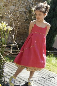 Robe Ondine, Une Rose sur la lune Ondine, Creation Couture, Little Girls, Girl Outfits, Bridesmaid, Sewing, Clothing, Inspiration, Dresses