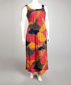 Charcoal Fl Maxi Skirt Plus
