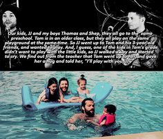 Awww it's SO CUTE when Jared & Jensen are talking about their kids like that