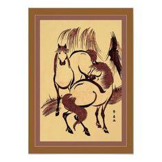 Horses ~ Vintage Japanese Print by VintageFactory