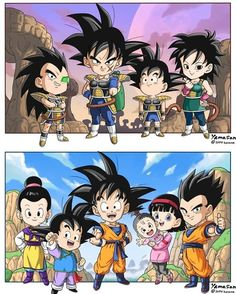 Dragon Ball Z, Dragon Z, Dbz Evolution, Dbz Manga, Anime Demon Boy, Goku And Chichi, Z Arts, Anime Chibi, Digimon