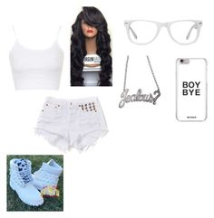 """""""All white"""" by french-fry-lioness on Polyvore featuring Muse, Topshop and Rock Rebel"""