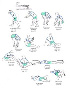 stretches after running