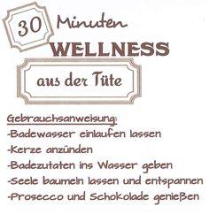 30 min Wellness aus der Tüte