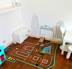 Cute but I think my son would rip the tape off the floor!
