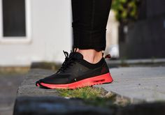 Nike Air Max Thea Black/Anthracite and Fusion Red