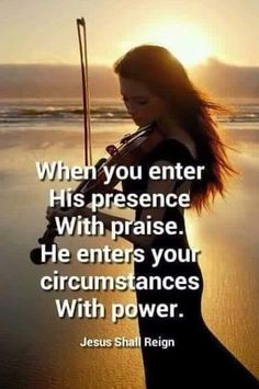 There is Power in Praise. God inhabits the praise of His people. The Lord reminds us that when we are feeling down or discouraged or hopeless, we do have a rememdy. We can CHOOSE to put on the Garm…