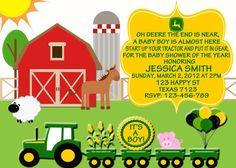 John Deere Baby Shower invitation