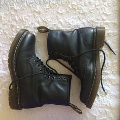 Women's 1460 doc martens (black Nappa leather) Perfect condition - worn once - Napa soft leather Dr. Martens Shoes Combat & Moto Boots