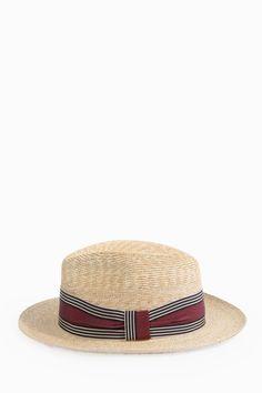 GREVI Hard Banner Straw Hat.  grevi   0cb109cee2ca