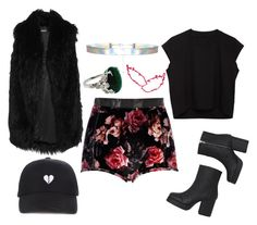 """""""Sem título #1083"""" by dani-gracik ❤ liked on Polyvore featuring DKNY, River Island, Monki and MM6 Maison Margiela"""