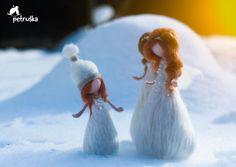 Sneeuw Kerstmis feeën naald Gevilte Waldorf Geïnspireerd