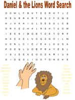 Daniel and the lions word search
