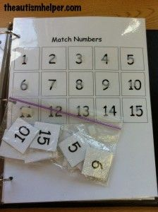 Match Numbers Work Task by theautismhelper.com