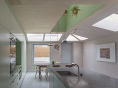 Pink House Kitchen Addition London, Rectangular And Triangular Skylights, Simon Astridge Architects, Nicholas Worley Photo