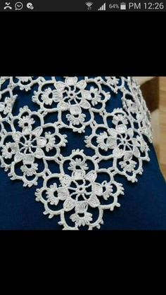 Items similar to White flower motif small square crochet la Crochet Car, Crochet Wool, Crochet Blouse, Thread Crochet, Cute Crochet, Irish Crochet, Crochet Motif, Vintage Crochet, Crochet Doilies