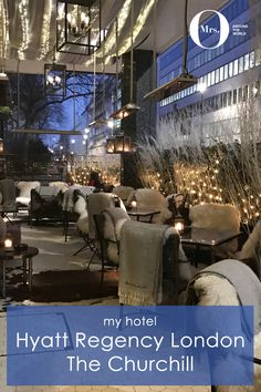 It's true, there is a great gin collection at the Hyatt Regency London, The Churchill - but what I didn't know existed was their Winter Garden. It is absolutely lovely and I spent all the time I could there. And service was impeccable.
