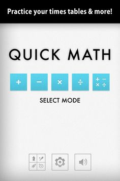 Quick Math | 2nd grade math app