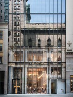 The Old Reflected in the New-Valentino Flagship Store by David Chipperfield