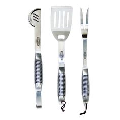 Man Law Barbeque Tool Set 3-Piece, Silver