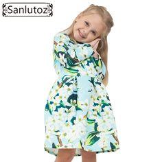 Flower Girls Dress Winter 2016 Girl Children Clothing Brand Clothes Kids Dress…