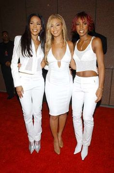 Destiny's Child's Best Matching Outfits. Michelle Williams, Beyonce Knowles, and Kelly Rowland at Michael Jackson's 30th Anniversary Celebrat... - Kevin Mazur/WireImage