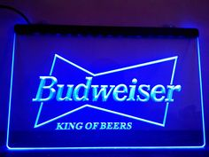 Budweiser King Beer Bar Pub Club LED Neon Light Sign Man Cave
