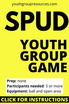 Spud Game Instructions - Youth Group Resources