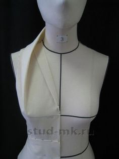 Very interesting. I think I might like the stand up fabric to come around the neck to from center front. Draping Techniques, Techniques Couture, Sewing Techniques, Clothing Patterns, Dress Patterns, Sewing Patterns, Sewing Clothes, Diy Clothes, Sewing Hacks