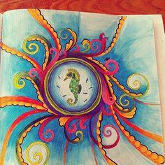 #antistresoveomalovanky #antistresscoloringbook #coloringbook #colorindolivrostop #johannabasford #lostocean#mondeluz #progress
