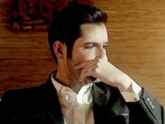 """{God and Lucifer} I was angry with you. You killed one of my greatest soldiers, Lilith. I had called you up to Heaven. I walk in. """"You killed Lilith, to save a girl."""" I start saying. You interrupt me. Lucifer Gif, Tom Ellis Lucifer, Tricia Helfer, Lauren German, Dr World, Noragami, Dan Stevens, Cute Hamsters, Disney Pixar"""