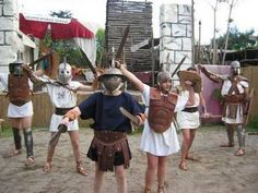 Gladiator School, Rome, Italy.  Where kids learn about ancient Roman history by becoming part of it.