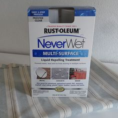 Make fabric waterproof & stain-proof: Now that I have finished my outdoor patio sofa I want to upholster in a navy bull denim. The only problem is that bull denim isn't waterproof, or stainproof for that matter. I still have some Rust-Oleum Never Wet left over from my breakfast table project and decided to conduct a test to see if it would waterproof fabric... - See more at: http://www.home-dzine.co.za/crafts/craft-never-wet-test.htm#sthash.DLgLKmQZ.dpuf