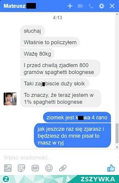 Funny Sms, Funny Text Messages, Haha Funny, Funny Texts, Funny Jokes, Polish Memes, Funny Conversations, Weekend Humor, Wtf Moments