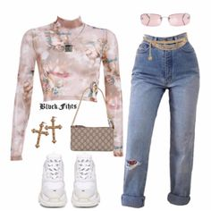 put together a fit for using their taupe angel top 🍒 i needa cop one asap Teen Fashion Outfits, Kpop Outfits, Retro Outfits, Cute Fashion, Look Fashion, Trendy Outfits, Korean Fashion, Summer Outfits, Girl Outfits