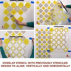 Cutting Edge Stencils - Moroccan Tiles Wall Pattern