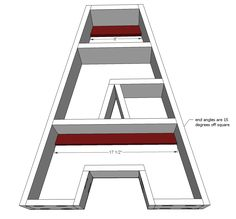 Ana White | Build a A Letter Shelf | Free and Easy DIY Project and Furniture Plans