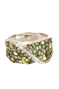 Balissima by Effy  Pave Multicolor Gemstone & White Diamond Row Ring  $769.86