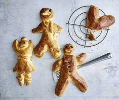 Daran haben nicht nur Kinder Freude: klassische Grittibenzen aus Hefeteig. Omelet, Xmas, Christmas, Bread Baking, Cravings, Vegetables, Desserts, Recipes, Biscuits