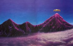"""martinlkennedy: """"Tim White - 'Vimana' (1978) from his anthology 'The Science Fiction and Fantasy World of Tim White (1988) """""""
