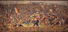 Battle of Pavia, France vs Spain & HRE  File:Manif. di bruxelles su dis.di bernart von orley, arazzi della battaglia di pavia, sconfitta della cavalleria francese, IGMN144484, 1526-31.JPG