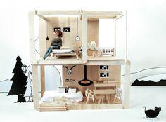 Design-Puppen-Spielhaus von Minjio... via Designchen