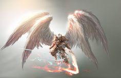 Angel concept art for Magic: The Gathering / Battl by Aleksi--Briclot on DeviantArt