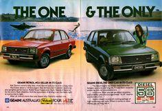 1982 TE Holden Gemini SL/E Diesel Sedan Aussie Original Magazine Advertisement Holden Gemini, Holden Muscle Cars, Holden Australia, Australian Cars, Car Brochure, Diesel Engine, Old Trucks, Car Photos, Car Car