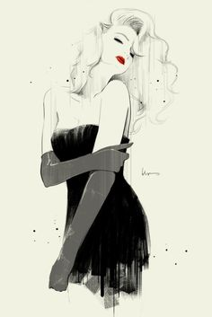 classic look is always sexy The Fashion Illustrations of Floyd Grey | Beautiful/Decay Artist & Design