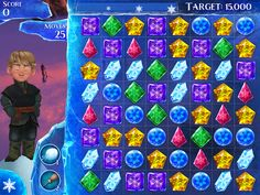 Frozen Free Fall Game app - like Candy Crush for kids.